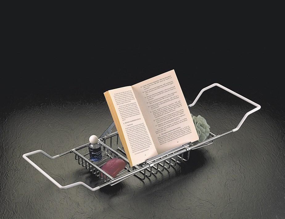 Bathtub Tray with Book Holder
