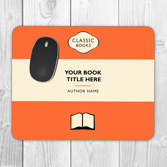 Classic Books Personalised Mouse Mat