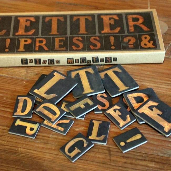 Letterpress Refrigerator Magnets