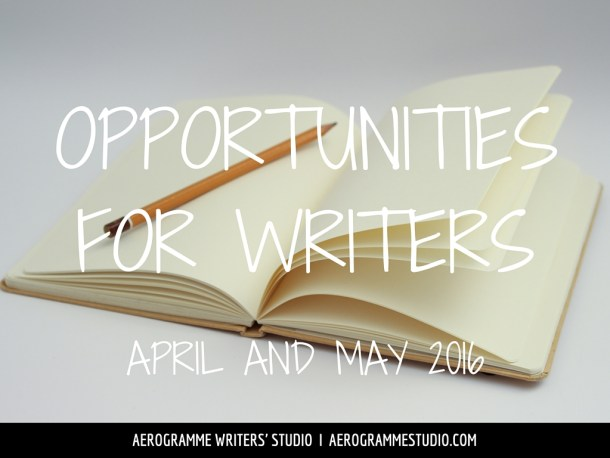 Opportunities for Writers April and May 2016 Image