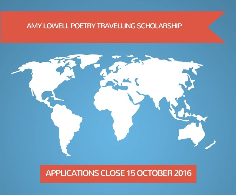 Amy Lowell Poetry Travelling Scholarship 2017