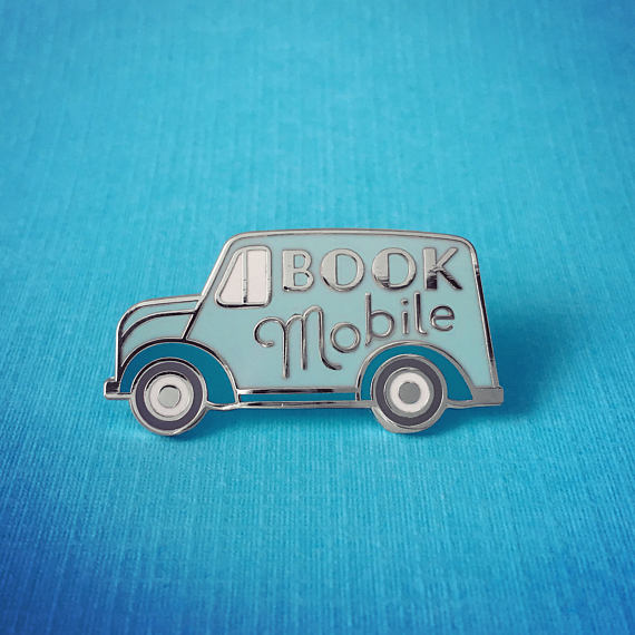Bookmobile Enamel Pin - Gifts for Writers