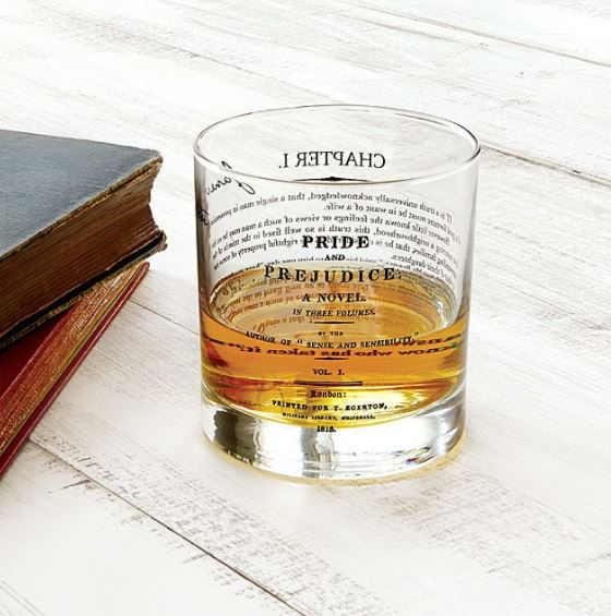 Pride and Prejudice Glass - Gifts for Writers