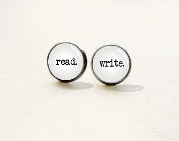 Read Write Earrings - gifts for writers