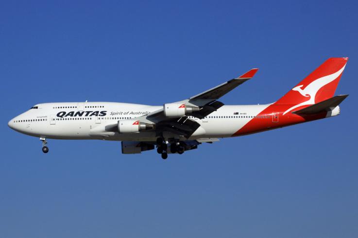 Avião Boeing 747 Qantas