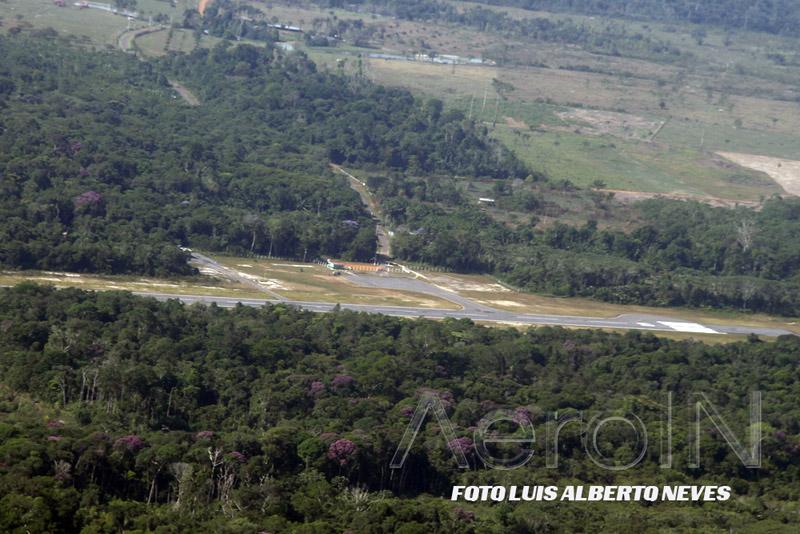 Início do procedimento de pouso em Santa Isabel