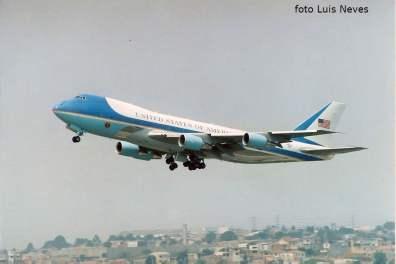 AIR FORCE ONE BIL CLINTON NO BRASIL 98