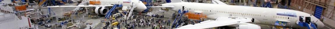 Fábrica linha produção Boeing 787