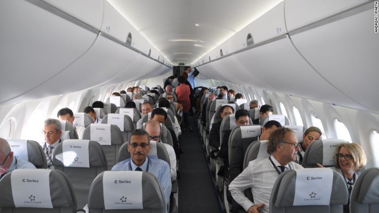 Cabine Interior Bombardier CS100 CSeries Swiss