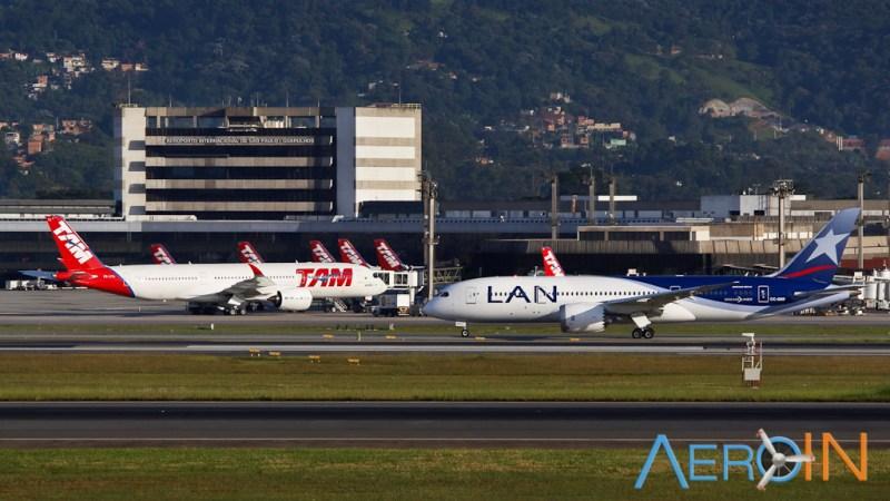 TAM Airbus A350 LAN Boeing 787