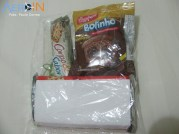 Kit Lanche distribuido no voo