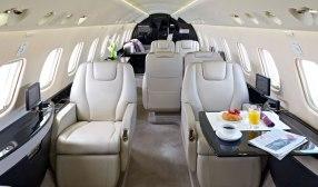 Legacy 650 Private Jet Cabin Interior Design Options