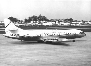 Sud Aviation SE-210 VI-R PP-CJC Caravelle, Congonhas, outubro 1970 (Paulo Laux).