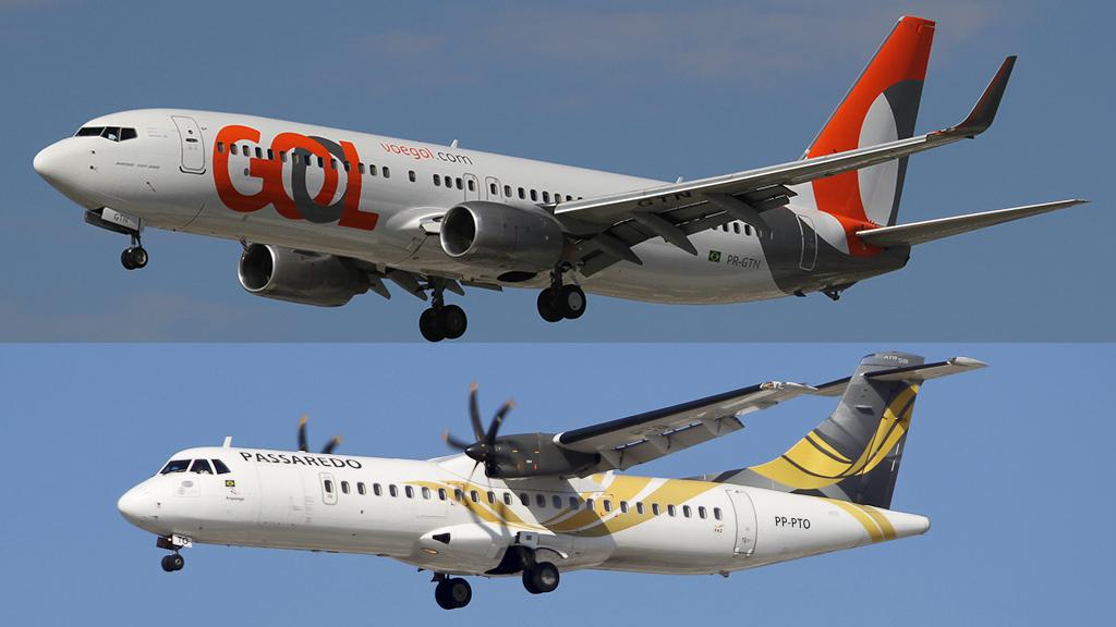 GOL inicia parceria com a Passaredo para voos regionais.