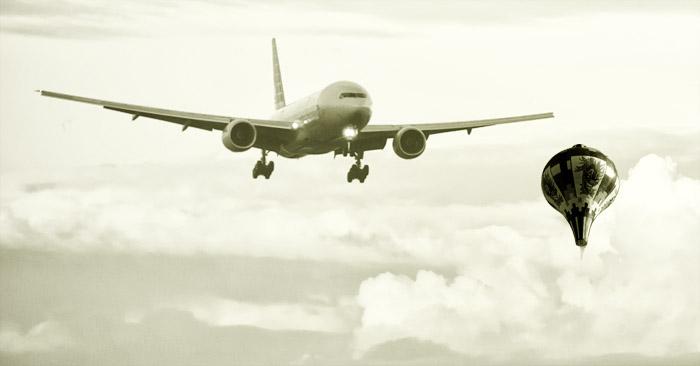 Áudio flagra o drama dos pilotos na chegada ao GRU Airport devido aos balões.
