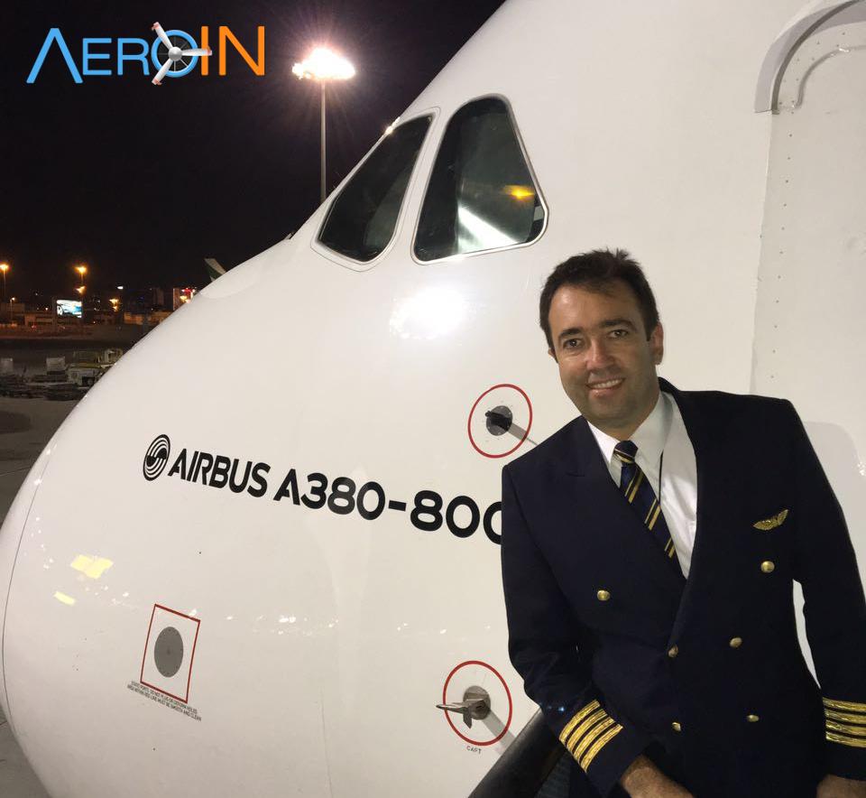 Conheça o piloto brasileiro que trará o gigante A380 no seu voo inaugural, em Março