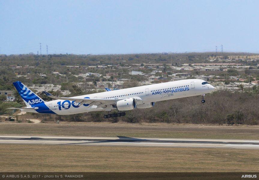"""A350-1000 realiza testes de voo de """"altitude e calor"""" na América Latina."""