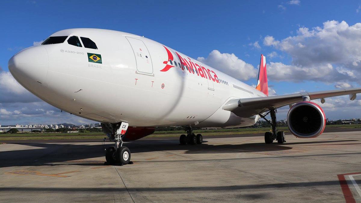 Avianca Brasil inaugura o Airbus A330 em preparação para os voos a Miami e Santiago.