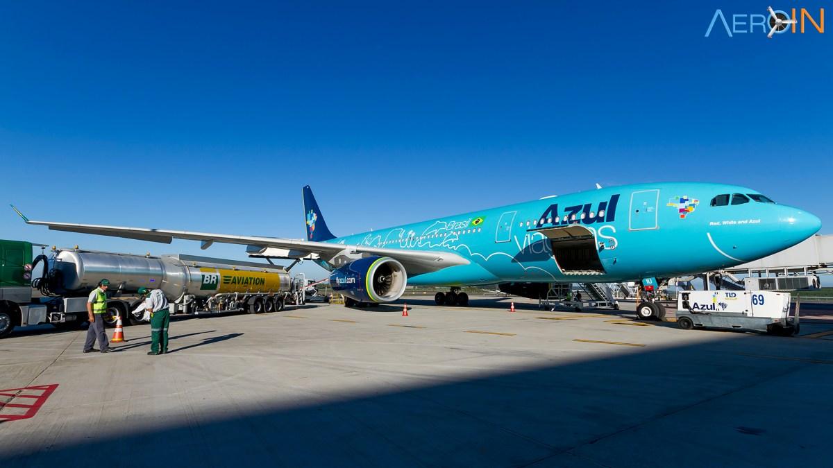 Voamos no A330-200 da Azul entre Viracopos e Recife.