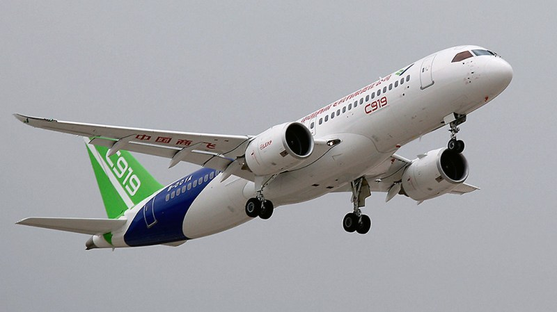 Avião COMAC C919 Roubar Tecnologia