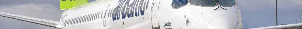 Avião Bombardier CS300 Airbus A220-300 airBaltic