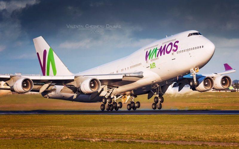 Avião Jumbo Boeing 747-400 Wamos Air