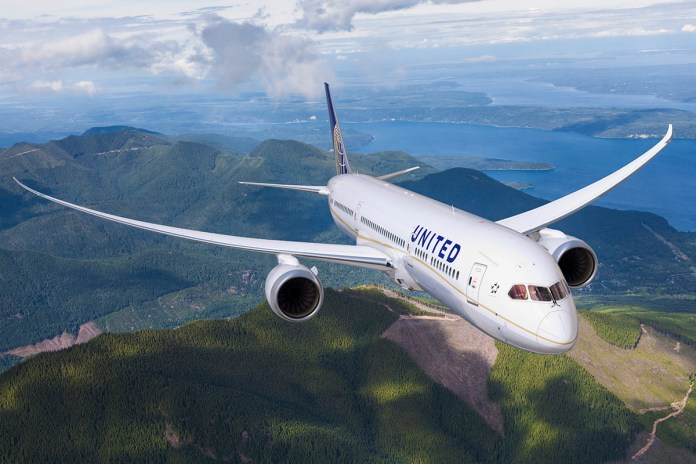 Avião Boeing 787 da United Airlines