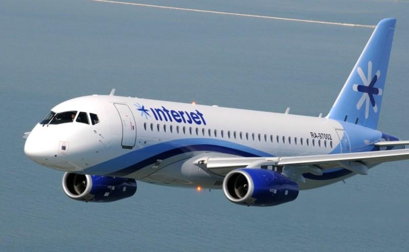 Avião Sukhoi Superjet SSJ 100 Interjet