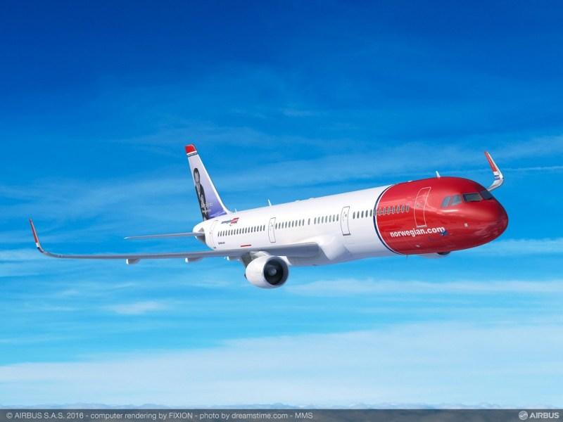 avião Airbus A321 Norwegian Argentina