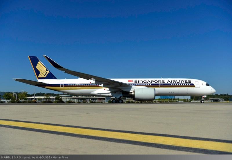 Primeiro Avião Airbus A350ULR Singapore