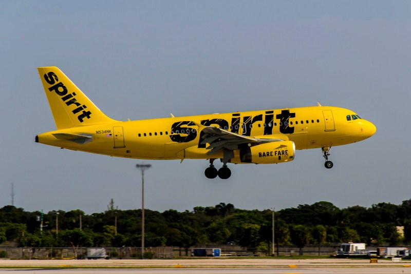 Avião Airbus A319 Spirit Airlines