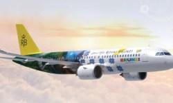 Avião Airbus A320neo Royal Brunei