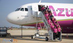 Avião Airbus A230neo Rosa Azul Vitoriosas Câncer