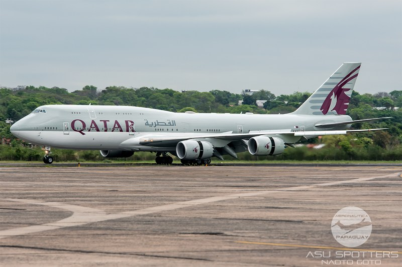 Avião Boeing 747-8i Catar