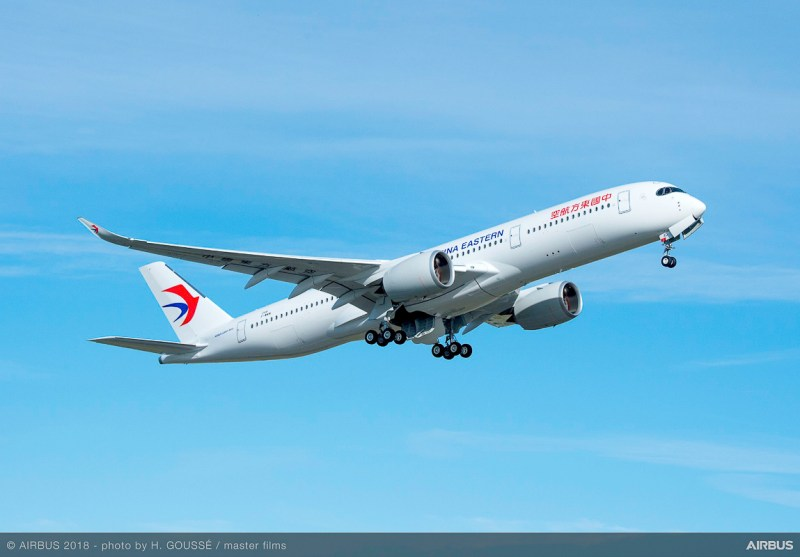 Avião Airbus A350-900 XWB China Eastern Airlines