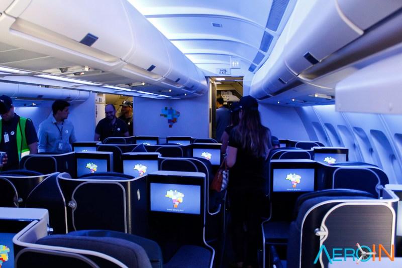 Interior Avião Airbus A330-200 Azul Linhas Aéreas Executiva