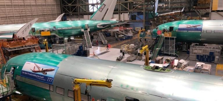 Avião Boeing 777X Teste