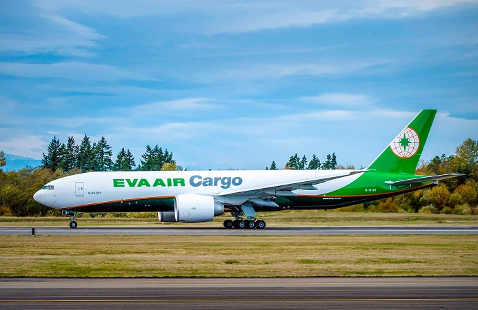 Cargo Airplane Boeing 777F EVA Air