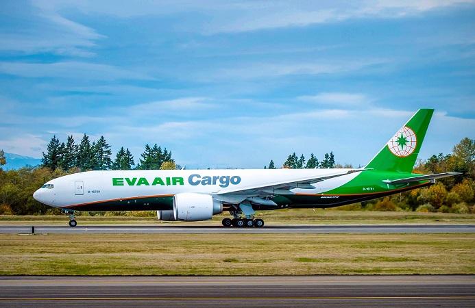 Cargo Airplane Boeing 777F EVA Air