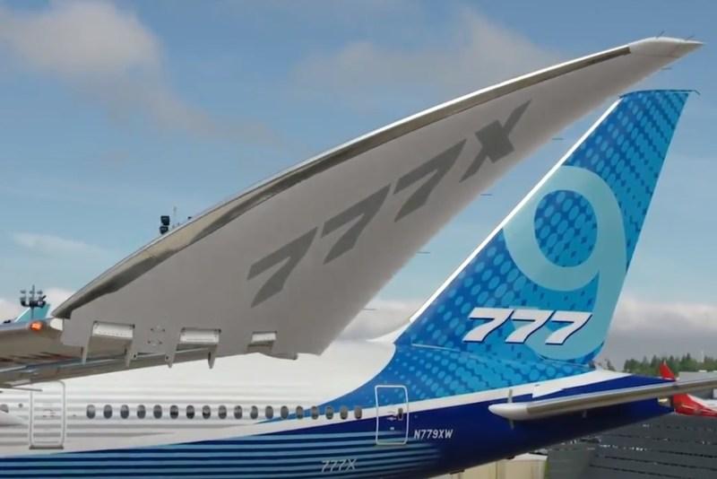 Avião Boeing 777X 777-9 Folding Wingtip