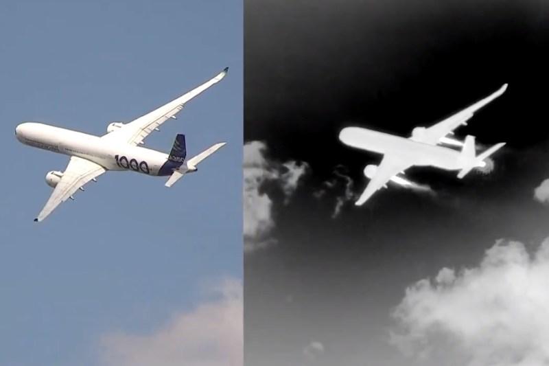 Avião Airbus A350-1000 Câmera Calor