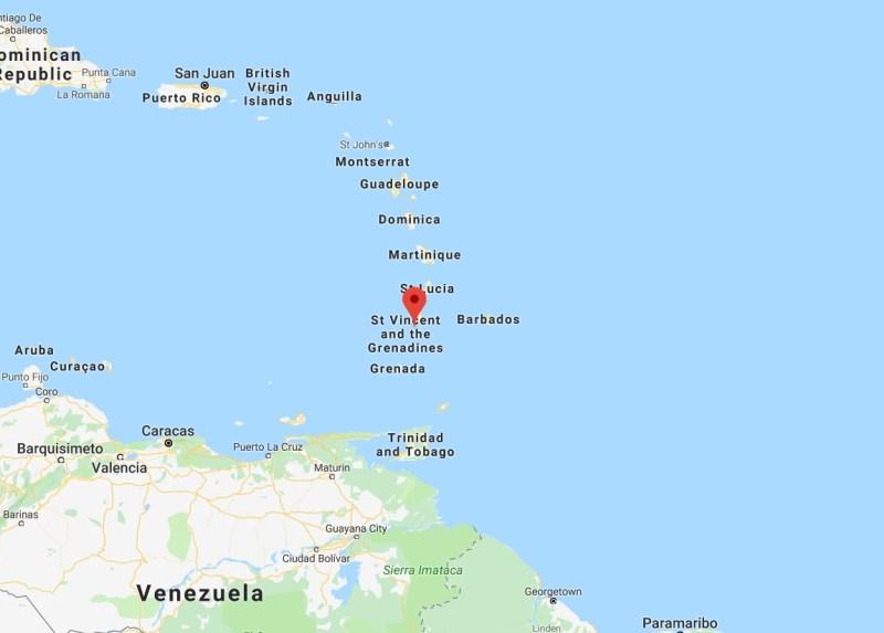 Googla Maps São Vicente e Granadinas