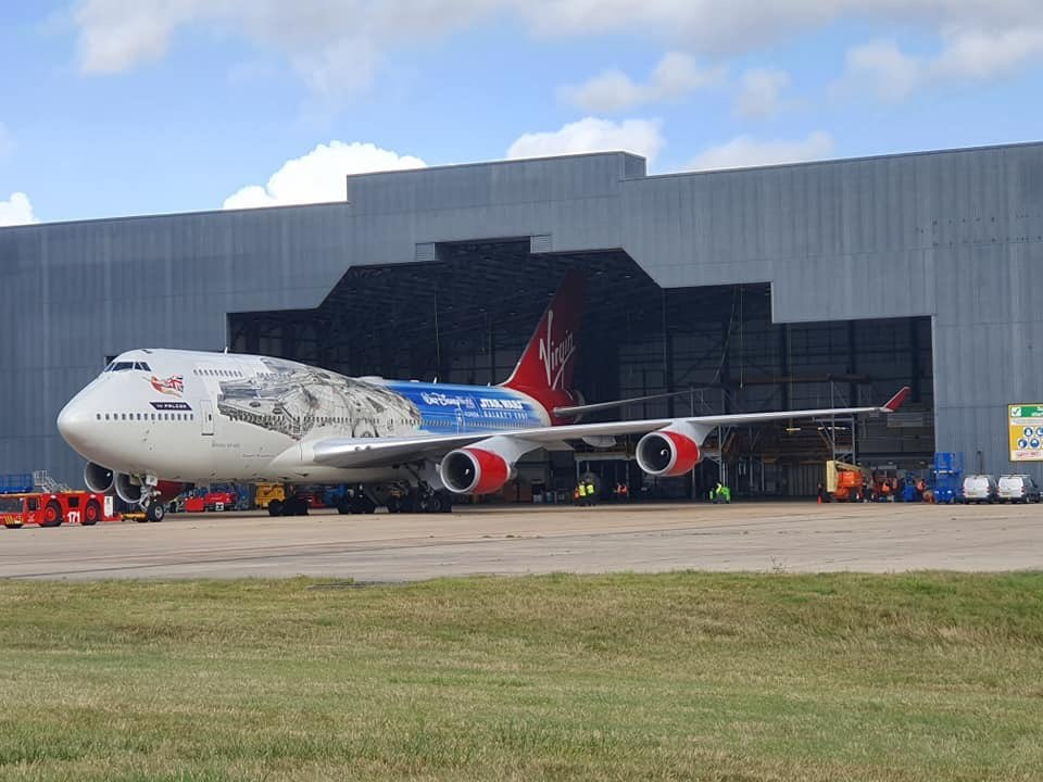Avião Boeing 747 da Virgin Atlantic, The Falcon
