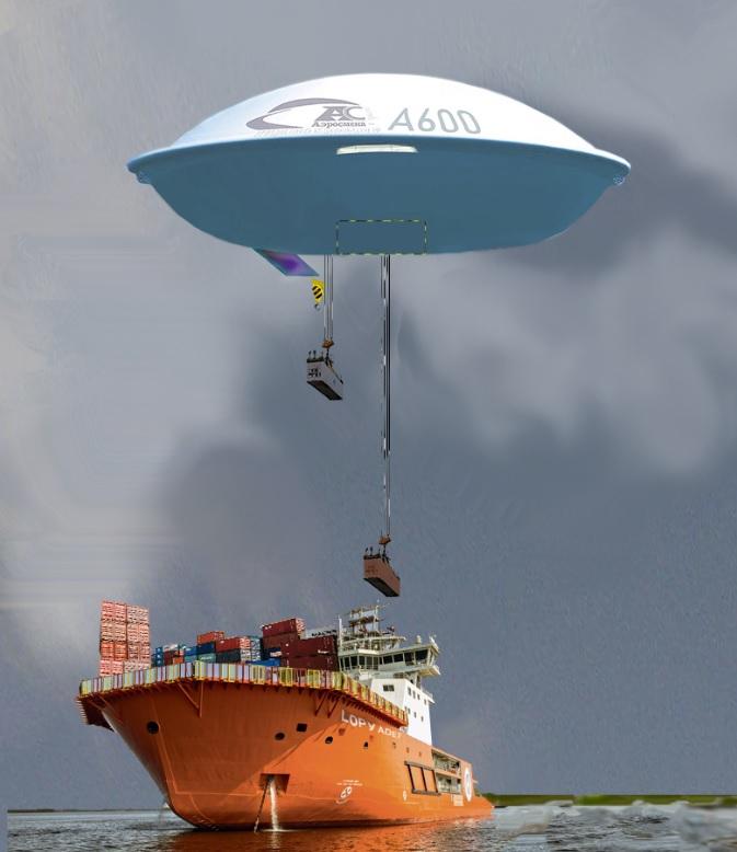 Aerosmena aeroplataforma transporte contêiners