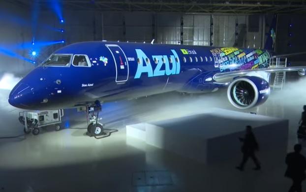 Primeiro Embraer E195-E2 Azul