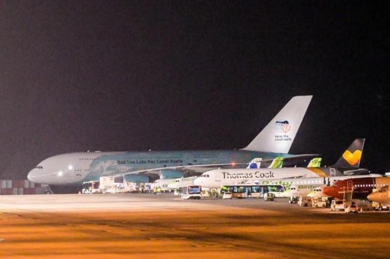 Foto José Carlos Guerra A380 Aeroporto Gran Canaria