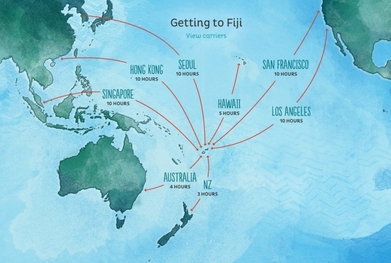 Mapa Ilhas Fiji