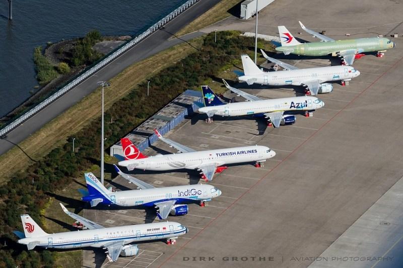 Airbus A320neo e A321neo estocados