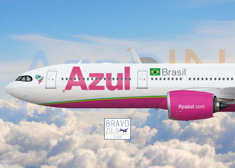 Airbus A330neo Azul Rosa