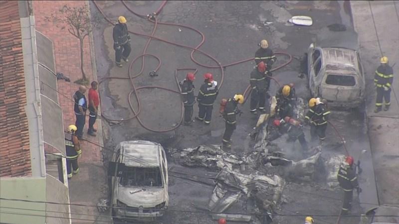 Acidente Cirrus SR 20 Carlos Prates Carros queimados